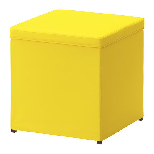 [IKEA] BOSNAS 수납용 스툴 (옐로우)/보조의자/풋스툴/정리함 Footstool with storage, Ransta yellow 702.666.85