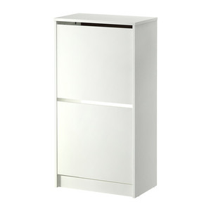 [IKEA] BISSA Shoe cabinet with 2 compartments, white / 2칸 신발장(화이트) 302.427.38