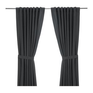 [IKEA] RITVA Pair of curtains with tie-backs / 커튼 (그레이) 001.723.41