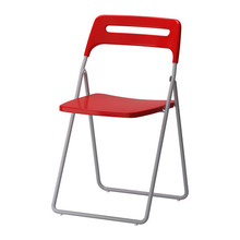 [IKEA] NISSE folding chair/ 접이식 의자(레드) 202.823.86